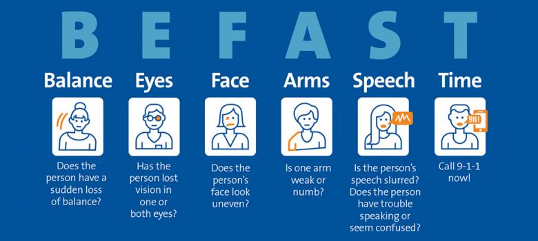 It's important to be aware of the warning signs and symptoms of a stroke. If you or a loved one is experiencing any of the symptoms below, call 9-1-1 and seek immediate medical attention. Every second counts.