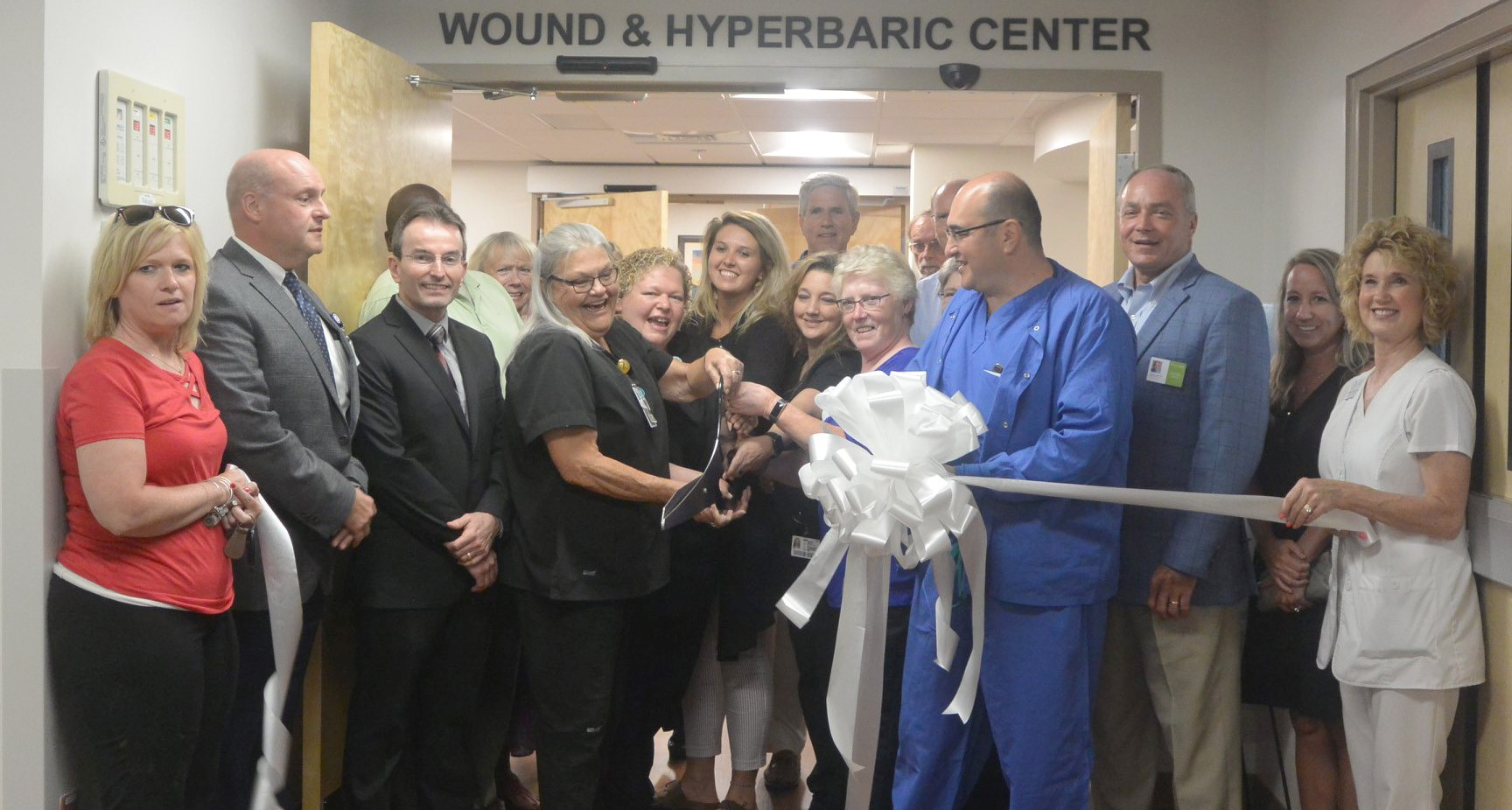 Ribbon Cutting of Wound Care Center