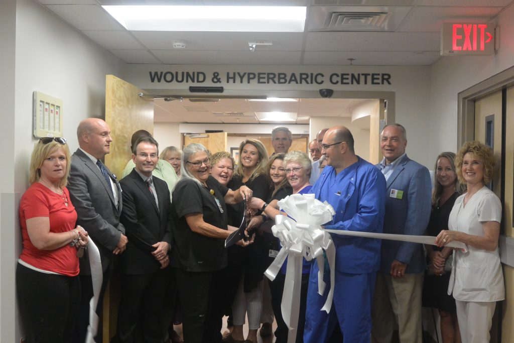 Wound Care Ribbon Cutting in July 2019.
